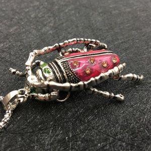 Betsey Johnson Egyptian Scarab Necklace